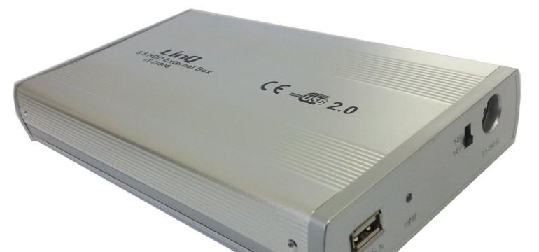 """LinQ New Box Case esterno 3.5"""" per HDD USB Ide"""
